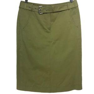Marc Cain olive green skirt belt US 8 EUC
